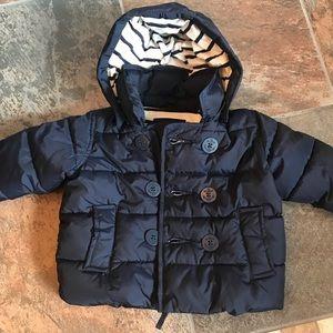 Gap baby puffer jacket EUC 0-6 months